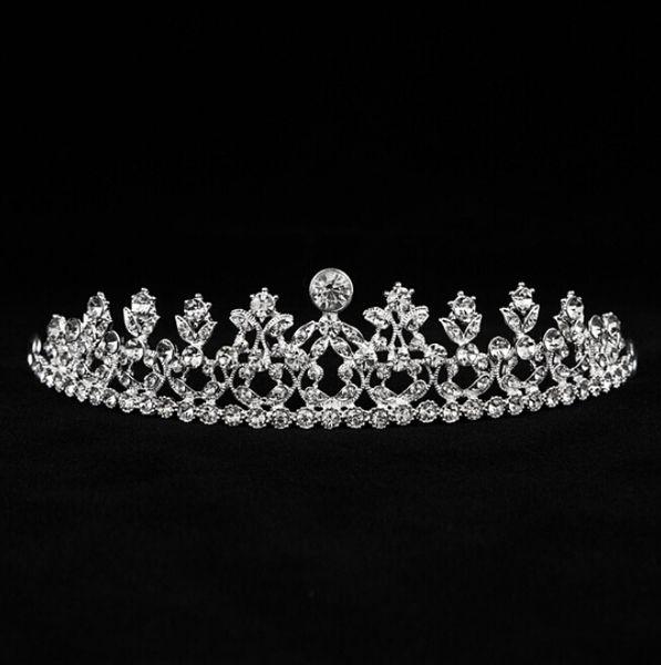 Cheap Girls Tiaras Crowns Headband Hair Clips Rhinestone Jewelry Bridal Hair Wedding Crown Tiaras Crystals Fascinators Headband