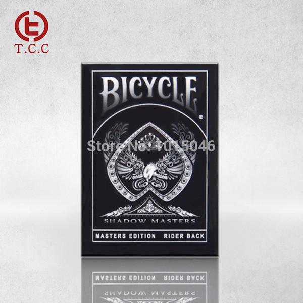 Venta al por mayor- Envío gratuito 1 Deck New Bicycle Shadow Masters Tarjeta de juego Top Grade Playing Cards Creative Poker Magic Card