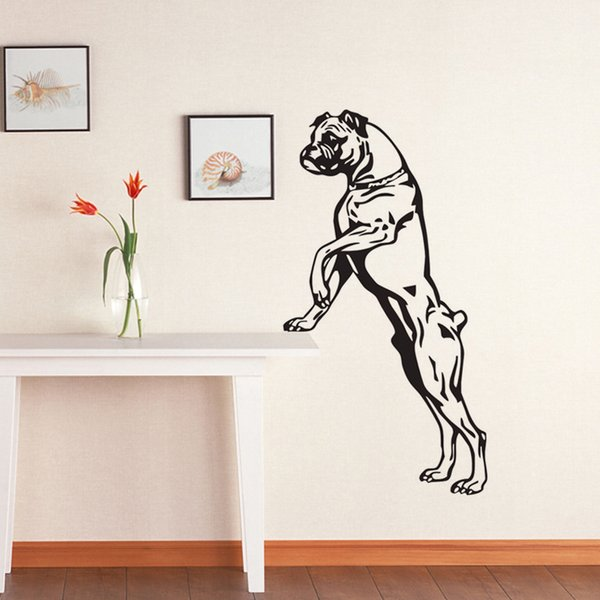 Large Size Boxer Dog Wall Decals Vinyl Stickers Home Decor Pets Shop Puppy Wall Stickers Animals For Kids Room