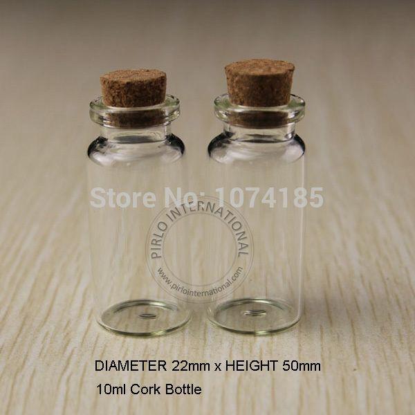 10 мл маленькие стеклянные бутылки флаконы банки с пробкой пробки пробка декоративные пробки крошечные мини Wising стеклянная бутылка для подвески
