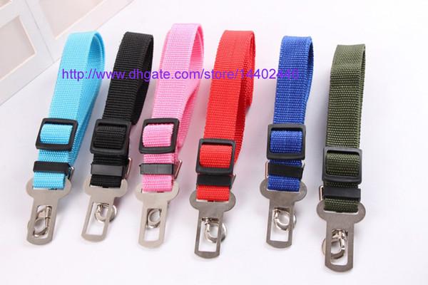 best selling 50pcs New Dog Pet Car Safety Seat Belt Seat Clip Seatbelt Harness Restraint Lead Adjustable Leash Travel Collar