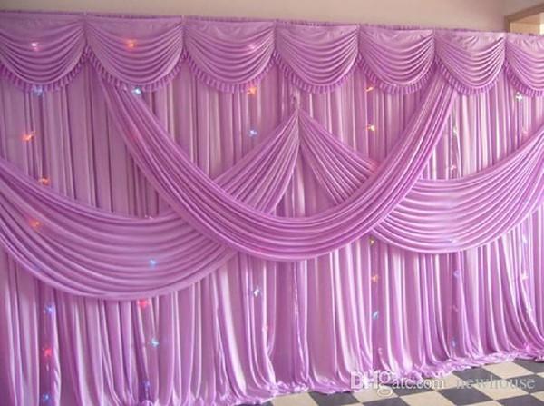 New 2016 Fashion Lavender Wedding Backdrop With Beatiful Swag