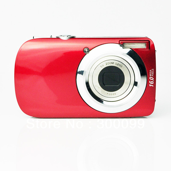 Max 16.0MP digital camera with 3.0'' TFT LCD display and 5X optical zoom, 8X digital zoom free shipping