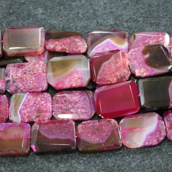 10pcs/1Strand Pink Druzy Agate Gemstone Beads, Natural Slice Slab Drusy Druzy Agate Necklace Pendant Connector Jewelry Making Wholesale