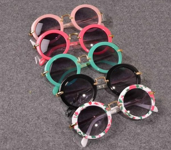 Kids Sunglass Baby GirlsTravel Holiday Round Vintage Sun Glasses Sunglasses Children Sun Glasses For Girls Boys Infant Eyewear KKA3336