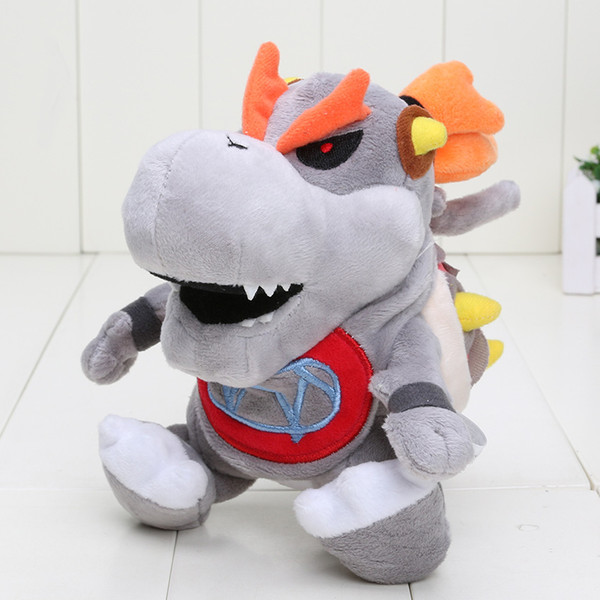 "7"" Super Mario 3D Land Skeletal Dry Bones Bowser Koopa Plush Doll Stuffed Toy Gifts for Kids"