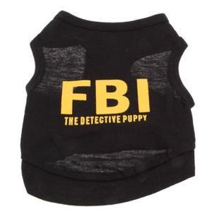 NEW Stylish FBI The Detective Puppy Cotton Vest for Pets Dogs (Assorted Sizes) ,Dog Clothes,Dog Shirt,Dog dress, ,pet