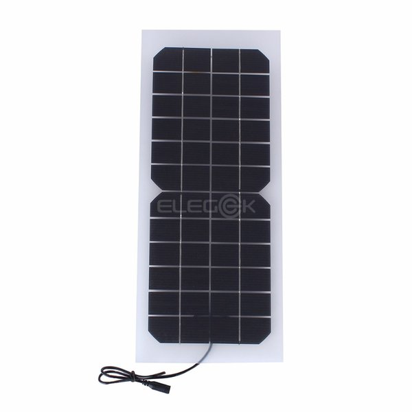 10W 12V Semi-Flexible Solar Cell Panel Semi Transparent DC Output Solar Cell with DC Cable for Battery Charging and Solar System