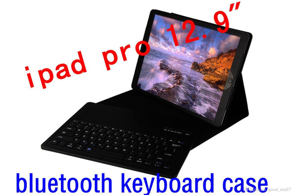 "Wireless Bluetooth Keyboard Case For ipad pro 12.9""inch Tablet pc Leather Smart Cover stander"
