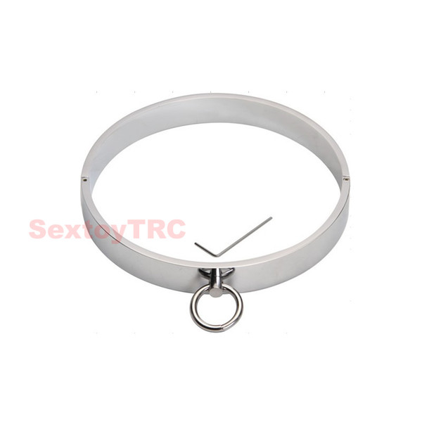 Heavy Duty Male Bondage Metal Dungeon Collar Restraint Steel Collar Alloy Perfect Chrome Cheap Price Wholesale Free Shipping BDSM Fetish