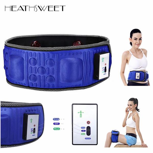 wholesale  5 Motors Electric Heat Function Fat Vibration Slimming Massage Belt Lose Weight Machine Wrist Shape Slim Belt Effect