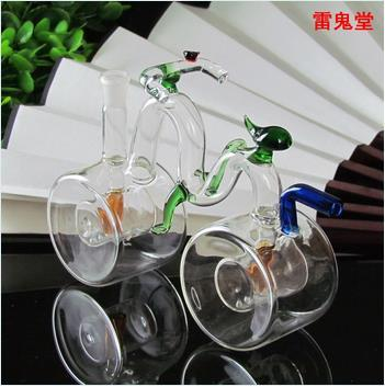 Big wheel bike large capacity glass high 12CM wheel width 5CM weight is 140 grams, color random delivery, wholesale glass hookah, large bett
