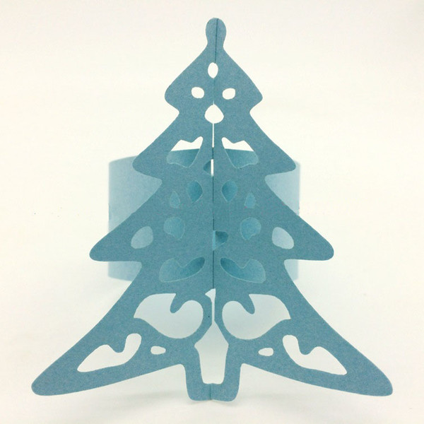 50Pcs/lot Free Shipping Towel Buckle Laser Cutting Christmas Tree Decorations Napkin Ring for Party Table Decoration, Christmas Favors