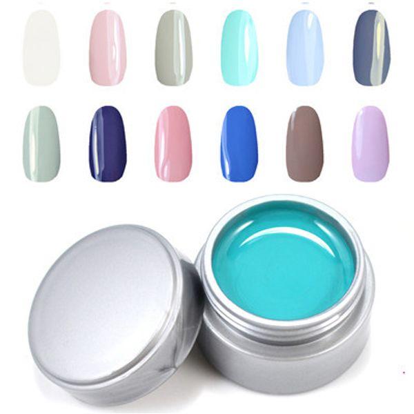 Wholesale-12pcs/lot UV Nail Gel Polish High Quality Soak Off Gel Varnish DIY Nail Art Salon LED Gel Polish Hot Sale Perfect Summer