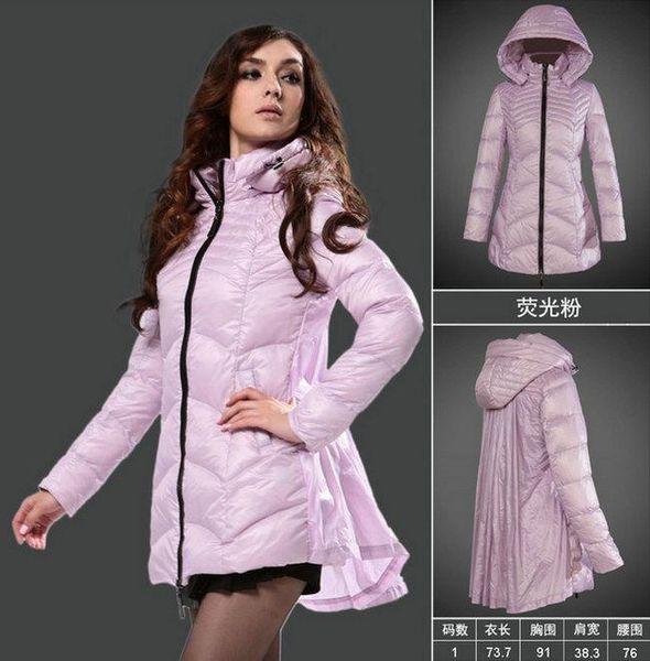 Winter duck down jacket women overcoat Pink long cloak coat Snow clothing Ladies parka coats girl winter clothes