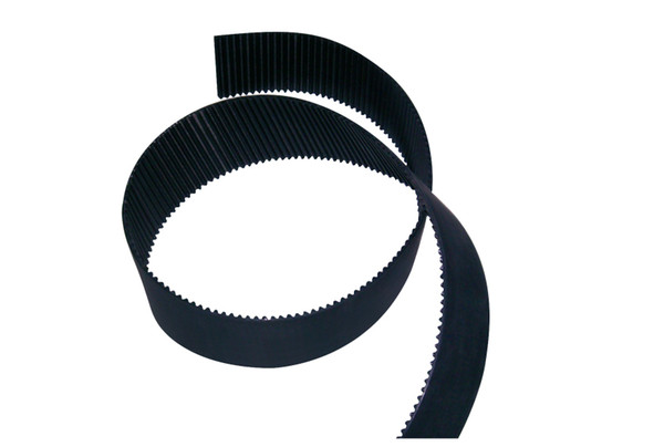 Good quality high speed rate Open design STD5M black color timing belt with stainless steel code inside