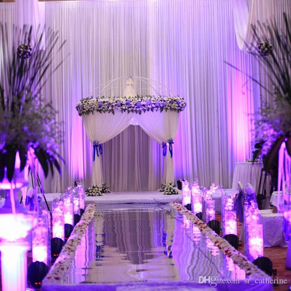 Popular wedding decoration romantic wedding mirror carpet t stage 1m popular wedding decoration romantic wedding mirror carpet t stage 1m wide gold and silver two colors thecheapjerseys Image collections