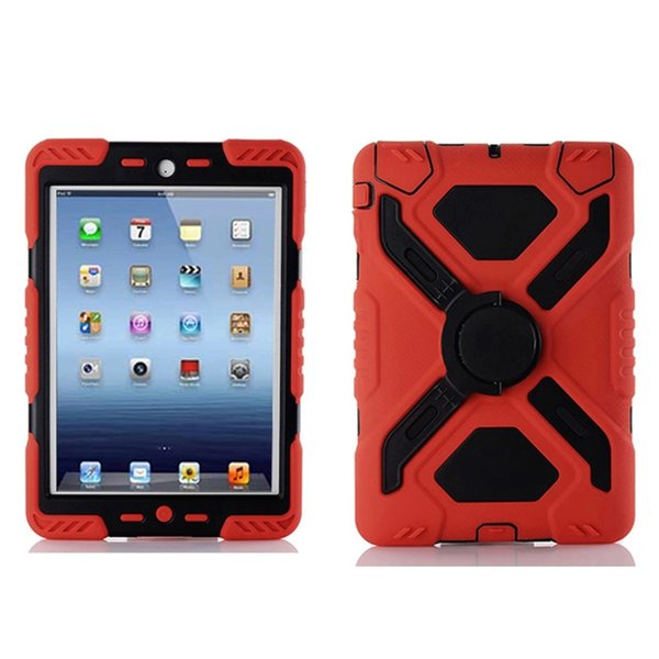 Military Duty Heavy Duty Shockproof Drop proof Hybrid Silicone Rugged Defender Case For iPad mini for iPad mini 2 3 & retail Box Free Ship