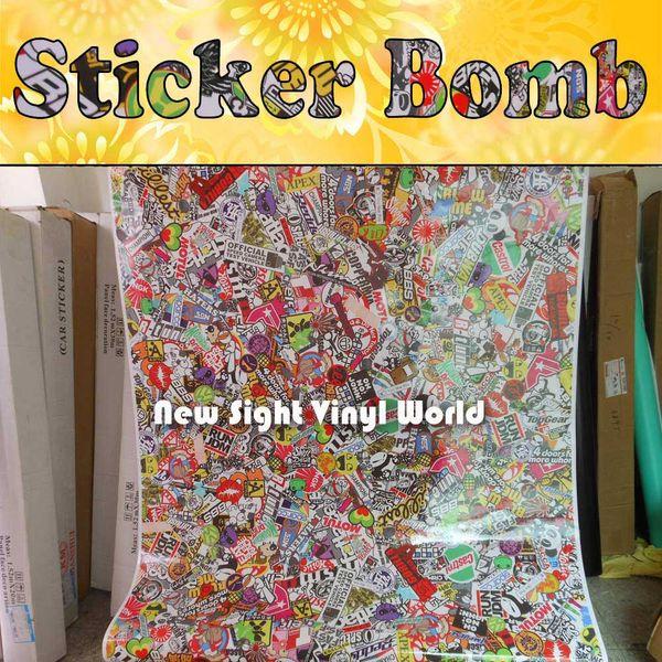 Premium-JDM-Euro-Stickerbomb-Vinyl-Car-Wrap-Aufkleber Bombardierung Luftblasenfreie Fahrzeug-Wrap-Grafiken
