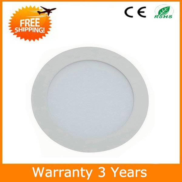 9W 18W LED Down Light LED Panel Round Downlight 15PCS 100-110LM/W 3 Years Warranty Manufacturer Supply Free Shipping