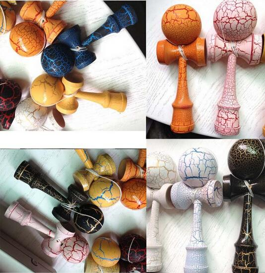 Fashion hot full Crack Paint Kendama Ball Skillful Juggling Game Ball Japanese Traditional Toy Balls Educational Toys Free shipping