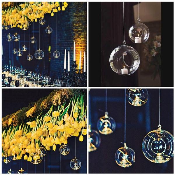 5 Kinds Size Hanging Air Plant Terrarium/Wedding Candles,Borosilicate Glass Ball Tealight Holders - Wedding or Home Decor candlestick