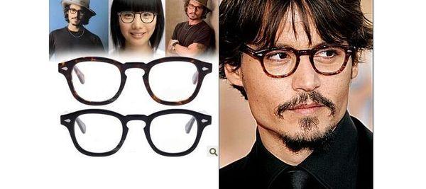 top popular 2015 johnny depp glasses top Quality brand round eyeglasses frame Fashion Sunglasses Frames 1915 free shipping 2019
