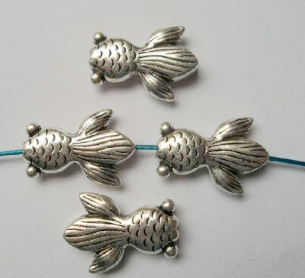 Горячей ! 100Pcs антикварные серебряные шарики шарма шарика 14.5x10mm приспосабливают браслеты вышитый бисером ожерелья