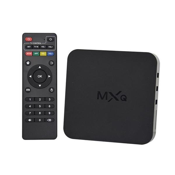 Vendita calda MXQ Quad Core Android TV Box Ricevitori satellitari TV Tuner 1080P HDMI WiFi 8GB 4k