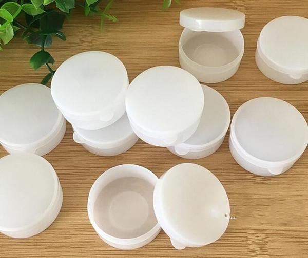 Portatile 100pcs 5g / 10g Mini Bottiglie riutilizzabili Cosmetici vuoti Cosmetic Jar Pot Ombretto Crema per il viso Contenitore Box Bianco