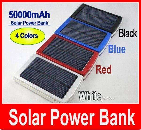 50000 mah Solar Charger and Battery 50000mAh Solar Panel Dual Charging Ports portable power bank for All Cell Phone table PC MP3