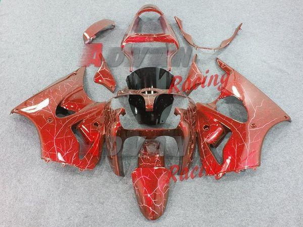 inventario kawasaki ninja zx6r 2000-2002 set di plastica della carenatura del corpo free shipping+ 8 gifts +Stickers+Colorful flashing light