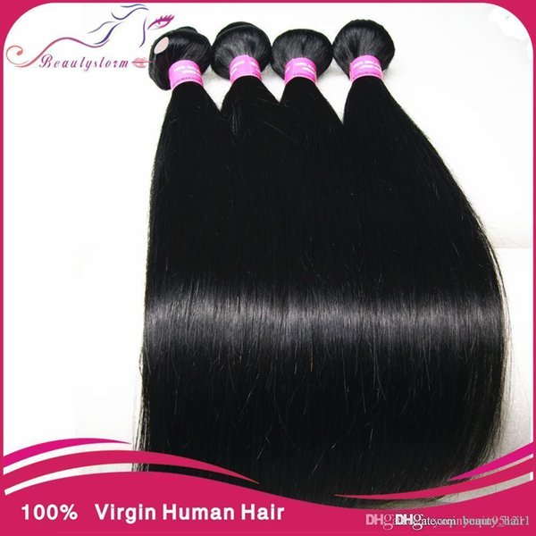 Cheap Indian Virgin Hair Straight Bobbi Boss Indi Remi Weave 1b 100