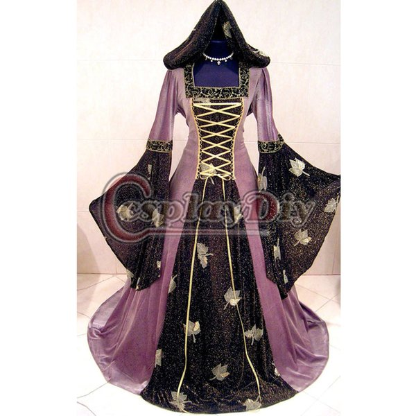 Custom Made Mittelalter Medieval Victorian Gothic Witch Costume ...