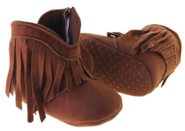 top popular free ups fedex 2016 winter high waist zipper tassel casual plus velvet baby toddler boots PU soft bottom infant girl balancing warm boots 2019