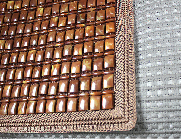 10PCS Monolithic Brown Lace Cushion Summer Car Upholstery Four Hand-Woven Seat Cushion 64-2B 1955 Ecological log Refreshment On Hot