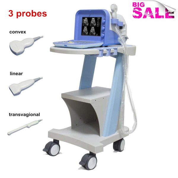Any three probes obstetric ultrasound scanner, USG, echograph, ultrasound machine human use, portable ultrasonic diagnostic equipment