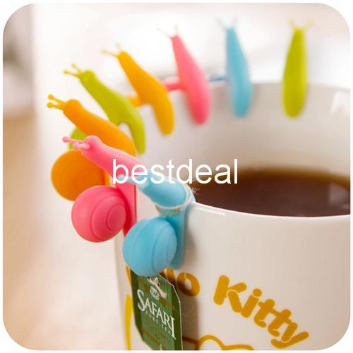 bolsitas de té etiqueta de copa de caracol para colgar bolsa de té Taza clip de taza Infusor infusor de té Casas de la novedad