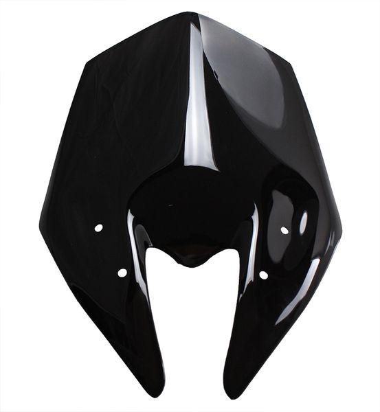 Motorrad Doppel Bubble Windschutzscheibe Motorrad Windschutz für 2013-2014 Kawasaki Z800 Z 800 13 14 Schwarz Farbe
