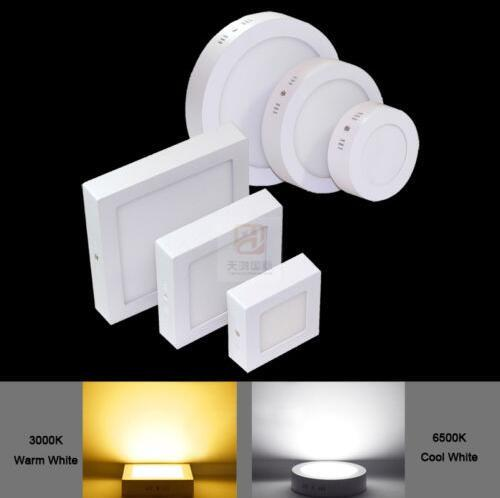 Led Panel Light Dimmable 9W 15W 21W Round / Square Surface Mounted Led Downlight lighting Led ceiling down spotlight 110-240V + Drivers CE U