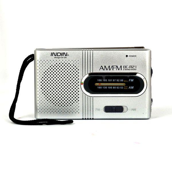best selling Universal BC-R21 Mini Portable AM FM Telescopic Antenna Radio DC 3V World Receiver Speaker Free Shipping