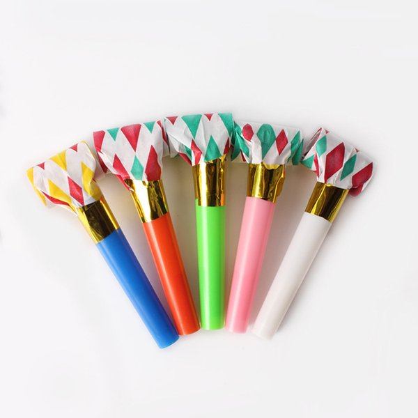 Noicemaker 100pcs Colorful Blowouts Whistles Dots Whistle Blowing Dragon Birthday Party decorations kids toys wholesale