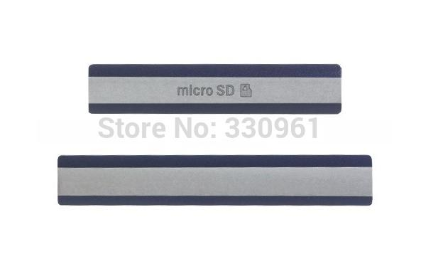 100pcs /lot Micro SD Card + SIM Card + USB Charging Port Cover Flap D6503 Dust Plug Block Cover Set for Sony Xperia Z2,Free Shipping