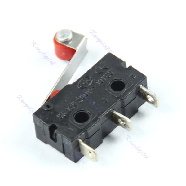 Wholesale 10pcs/lot New Micro Roller Lever Arm Normally Open Close Limit Switch KW12-3 order<$18no track