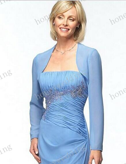 best selling Custom Colour Size Chiffon Long Sleeves Mother Of The Bride Wedding Jackets Women Wraps Bridal Gown Formal Dress Bolero Bridal Accessories
