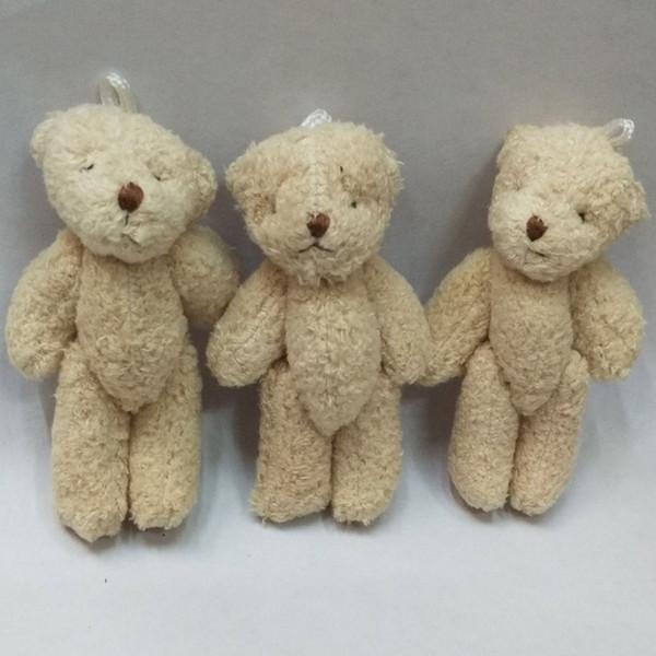 Bulk 50pc 8CM Pearl Cotton Plush Mini Teddy Bear Ursinho De Pelucia Jewellery Accessory Gift Key chain Pendants