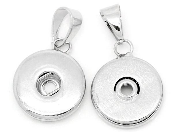 2 Pendentifs Breloque Rond Pour Button Pression  3.2x1.8cm