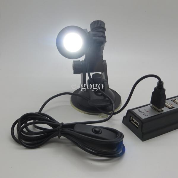 Mode LED kleine Schreibtischlampe USB LED Lampe Tischleuchte mit Saugnapf USB Lampe Leselampe Nachtlicht Energiesparlampe mit Schalter