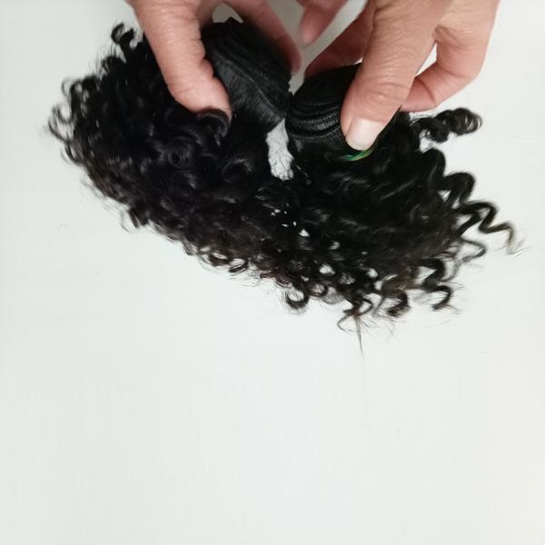 Beauty Malaysian Brazilian virgin human Hair weft 8-12inch Kinky curly Cheap Factory wholesale price European Indian remy hair 300g/lot