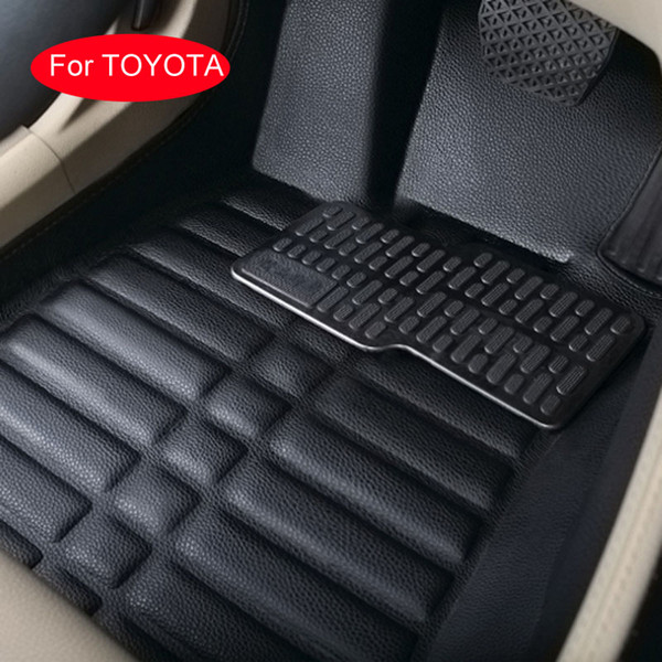 For Toyota RAV4 Corolla 7 Camry Crown Mark Highlander Landcruiser Prado Car floor mats Car styling Waterproof 3D Allrounded Anti-slip